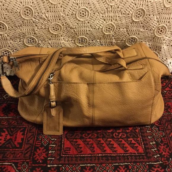 566191de9c 🌸SALE 🌸TopShop Genuine Leather Tan Weekender Bag.  M 5a4d5e943afbbd790202d9cf
